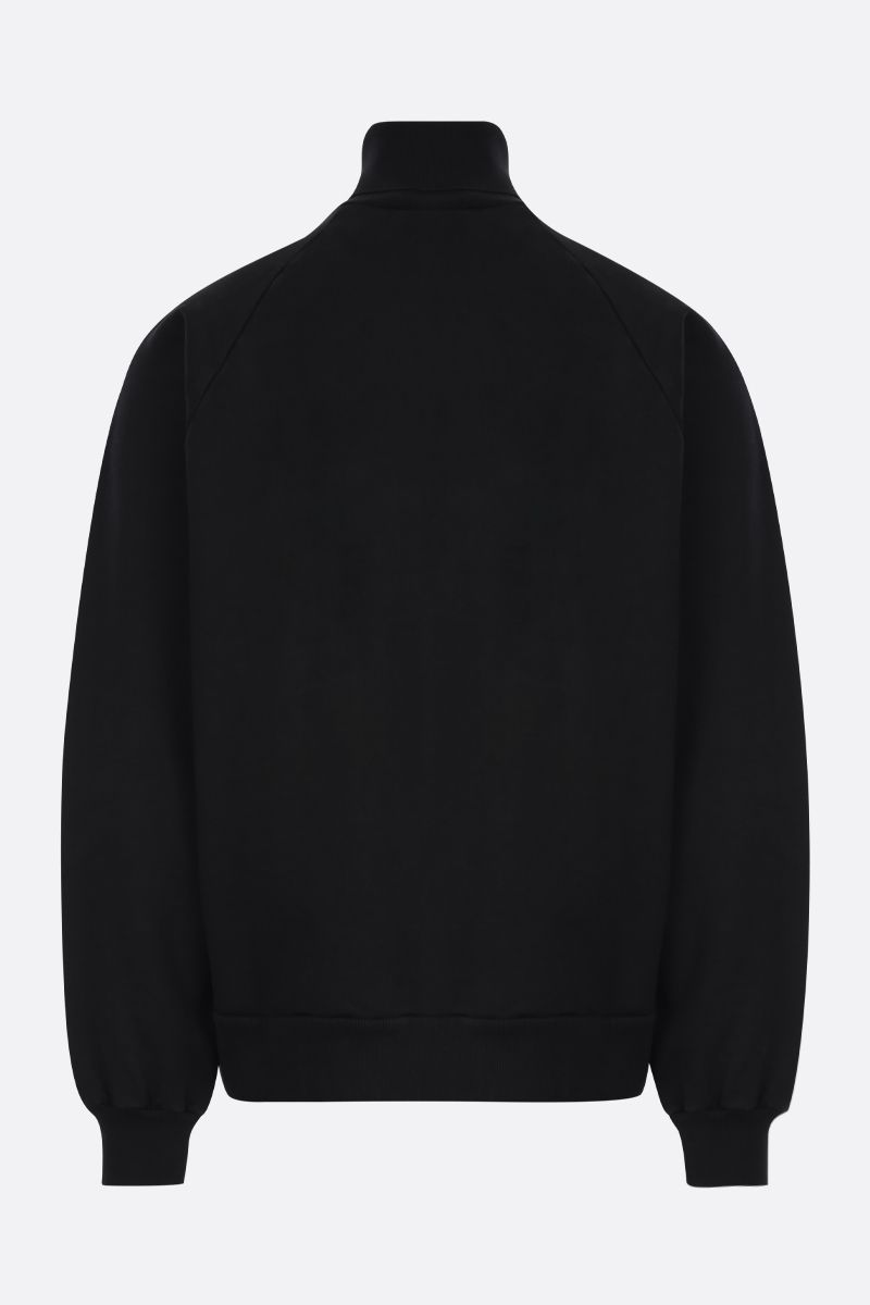 PRADA: logo-detailed cotton oversize sweatshirt Color Black_2