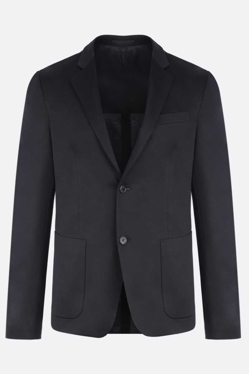 PRADA: single-breasted jacket in Lisle cotton Color Black_1