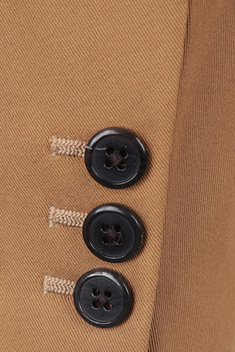 PRADA: lightweight cotton single-breasted jacket Color Brown_4