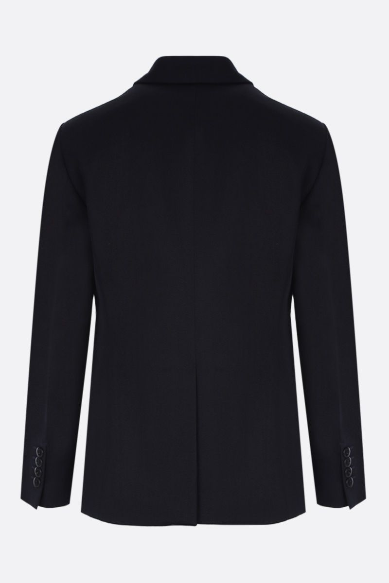 PRADA: wool gabardine double-breasted jacket Color Blue_2
