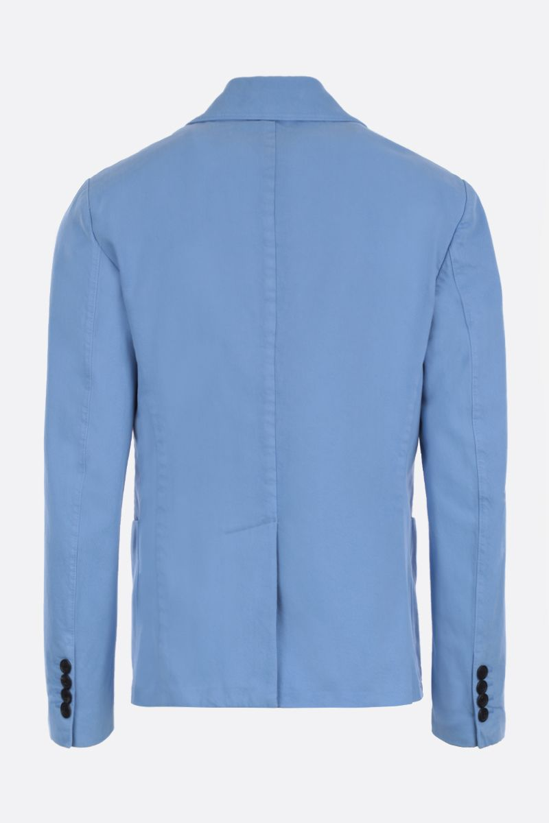 PRADA: denim double-breasted jacket Color Blue_2