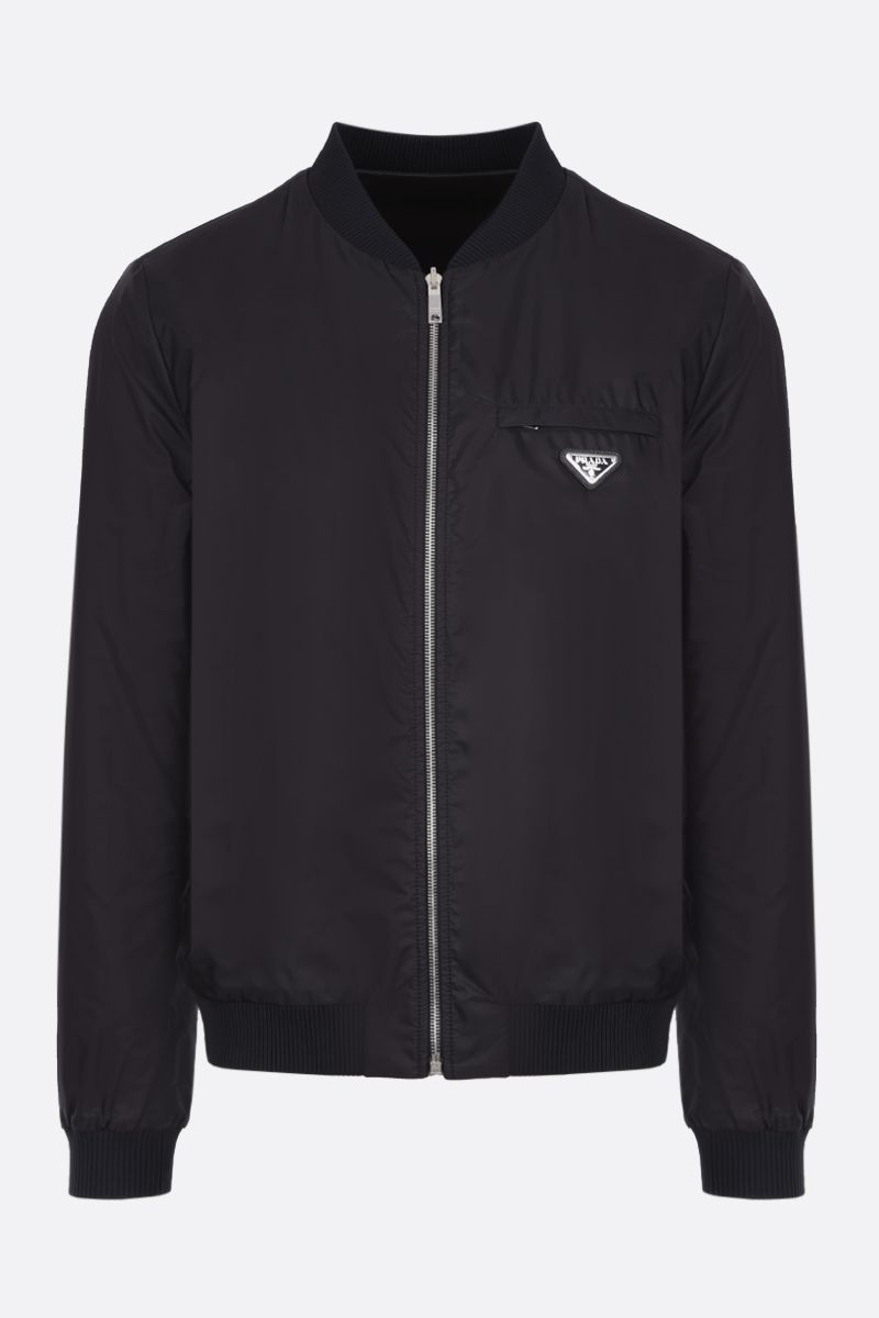 PRADA: reversible bomber jacket in nappa and nylon Color Black_2