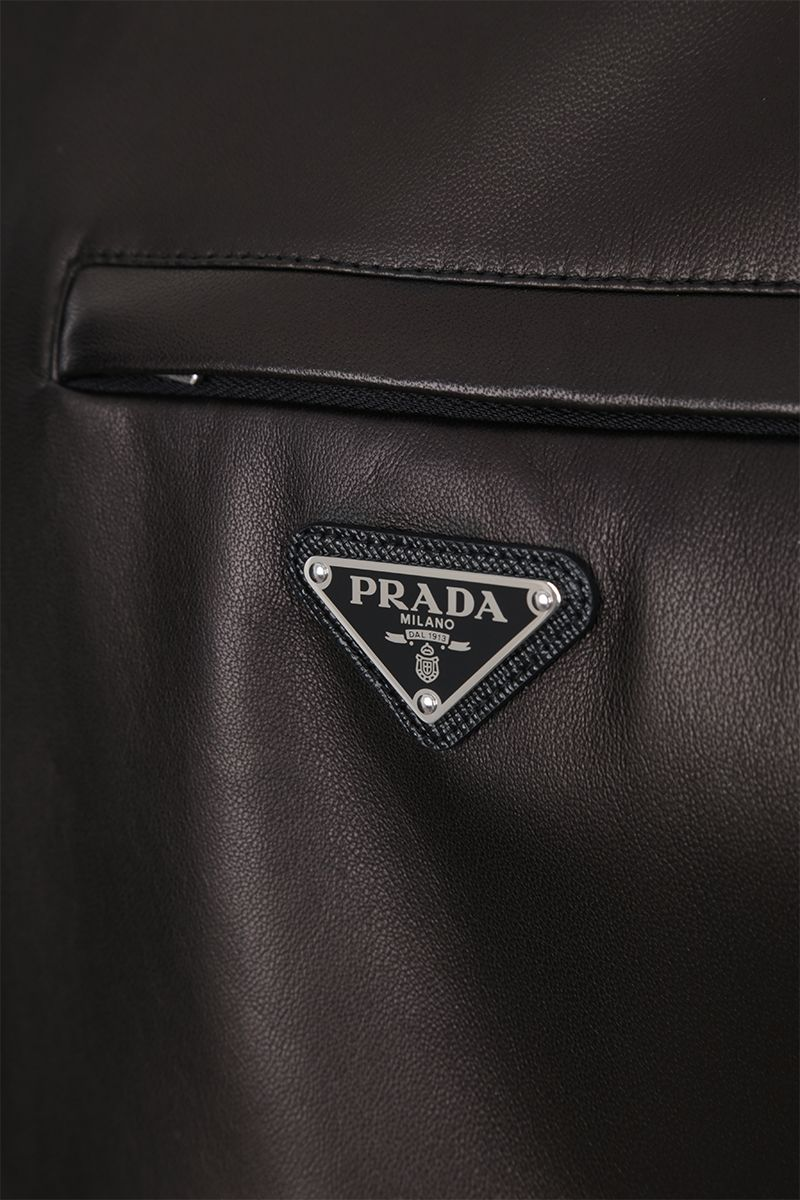 PRADA: reversible bomber jacket in nappa and nylon Color Black_4
