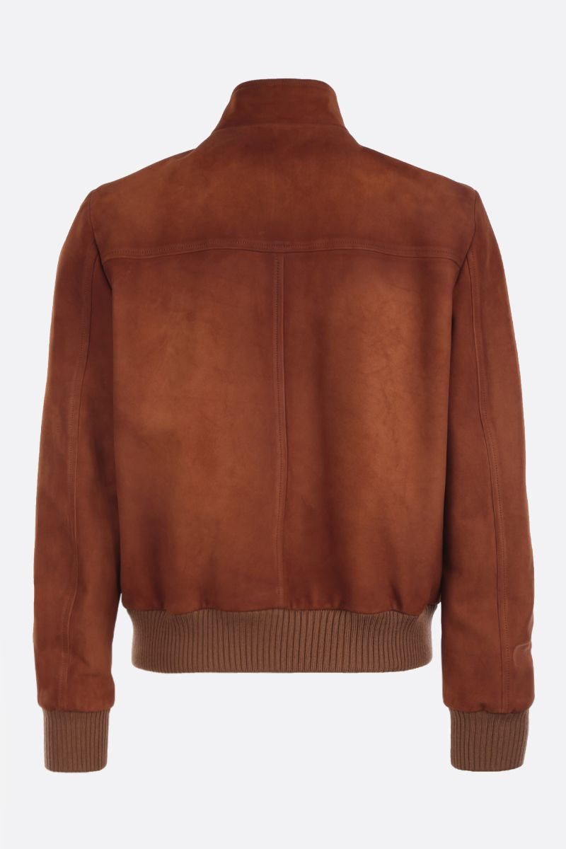 PRADA: velvet suede bomber jacket Color Brown_2