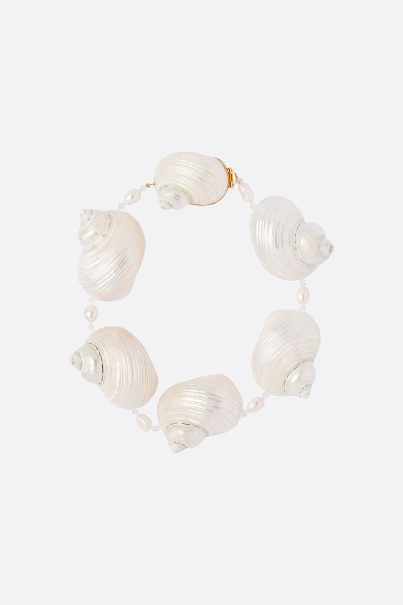 PRADA: shell-detailed silver choker Color White_1
