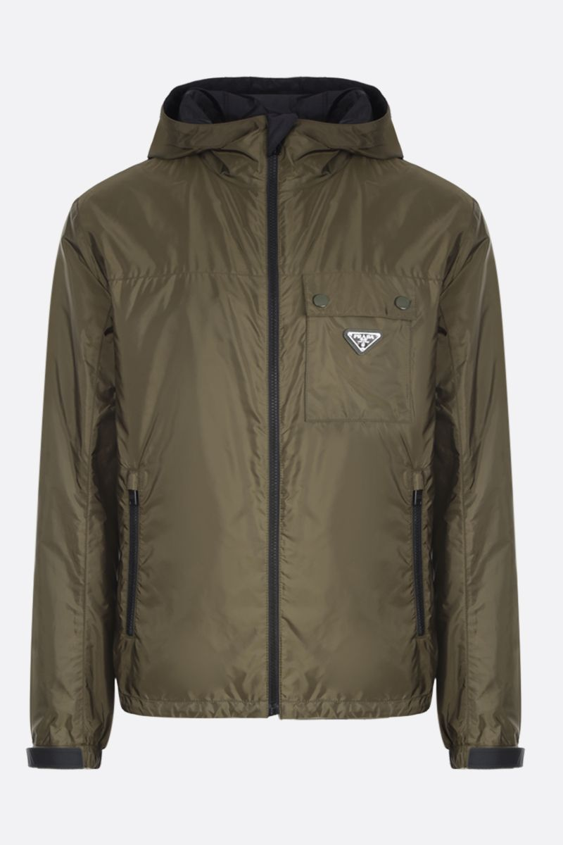 PRADA: nylon windbreaker Color Brown_1