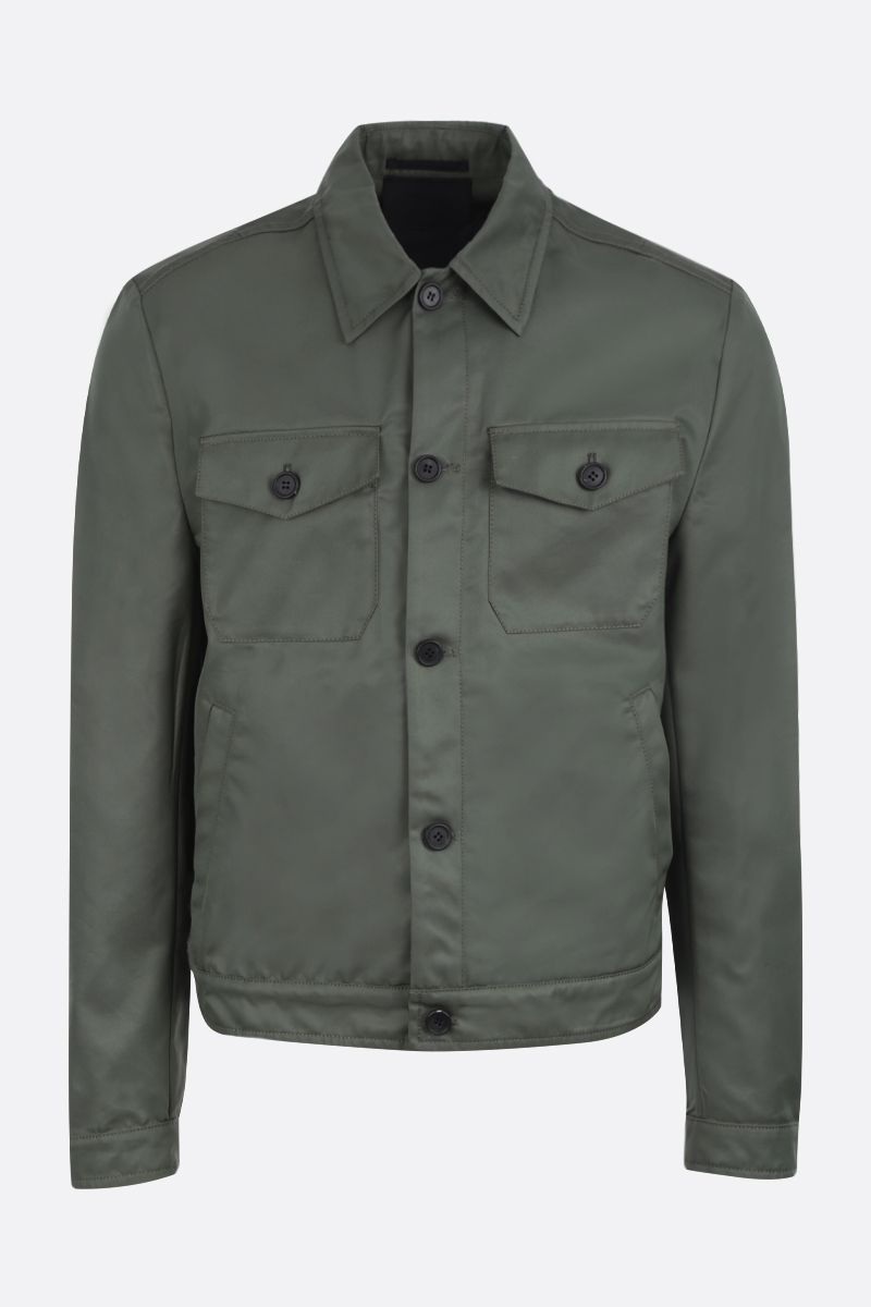 PRADA: technical cotton jacket Color Green_1