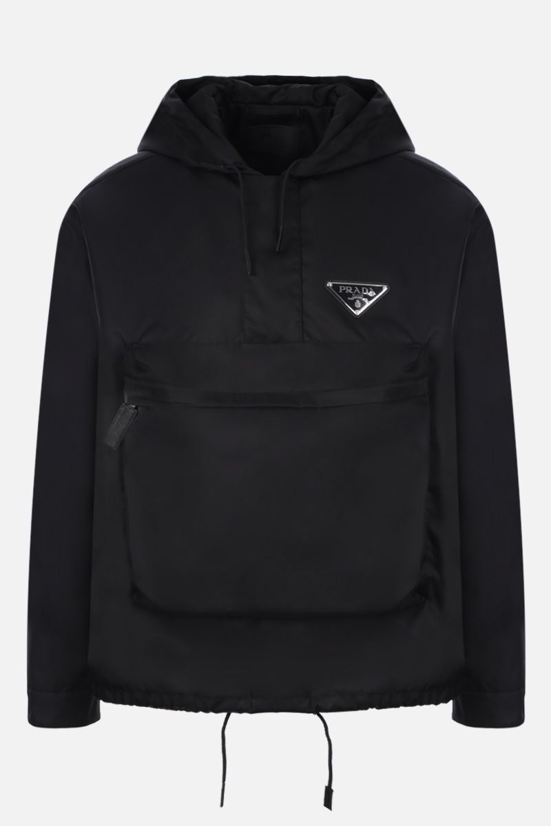 PRADA: nylon gabardine anorak jacket Color Black_1