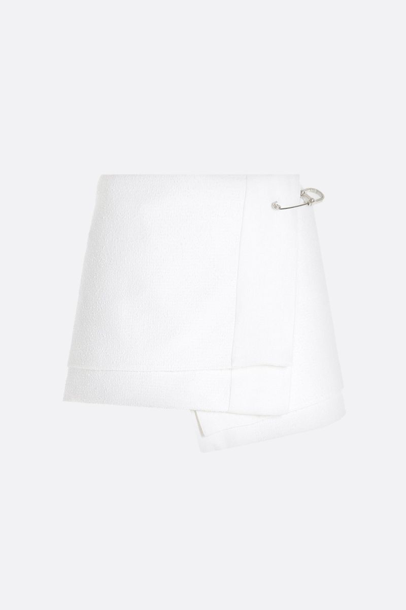 PRADA: stretch cotton wrap skirt Color White_1