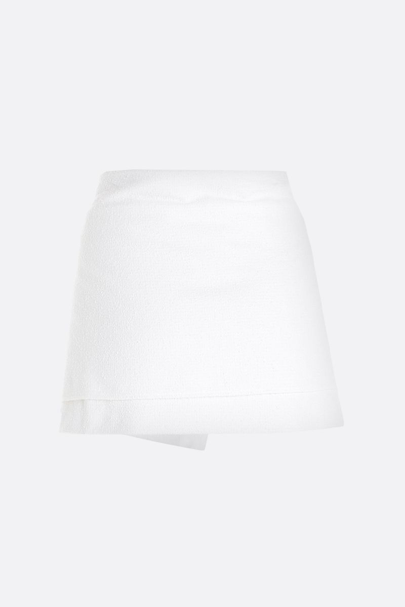 PRADA: stretch cotton wrap skirt Color White_2