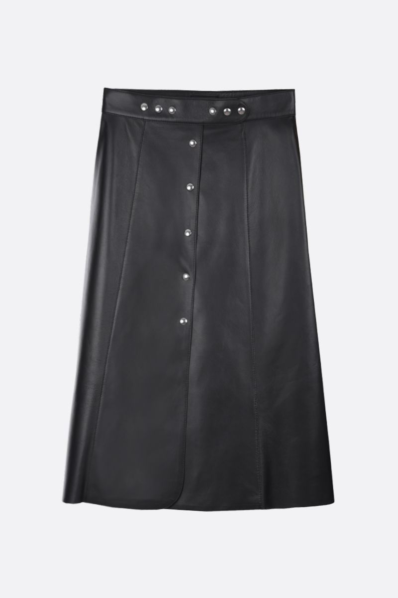 PRADA: soft nappa A-line skirt Color Black_1
