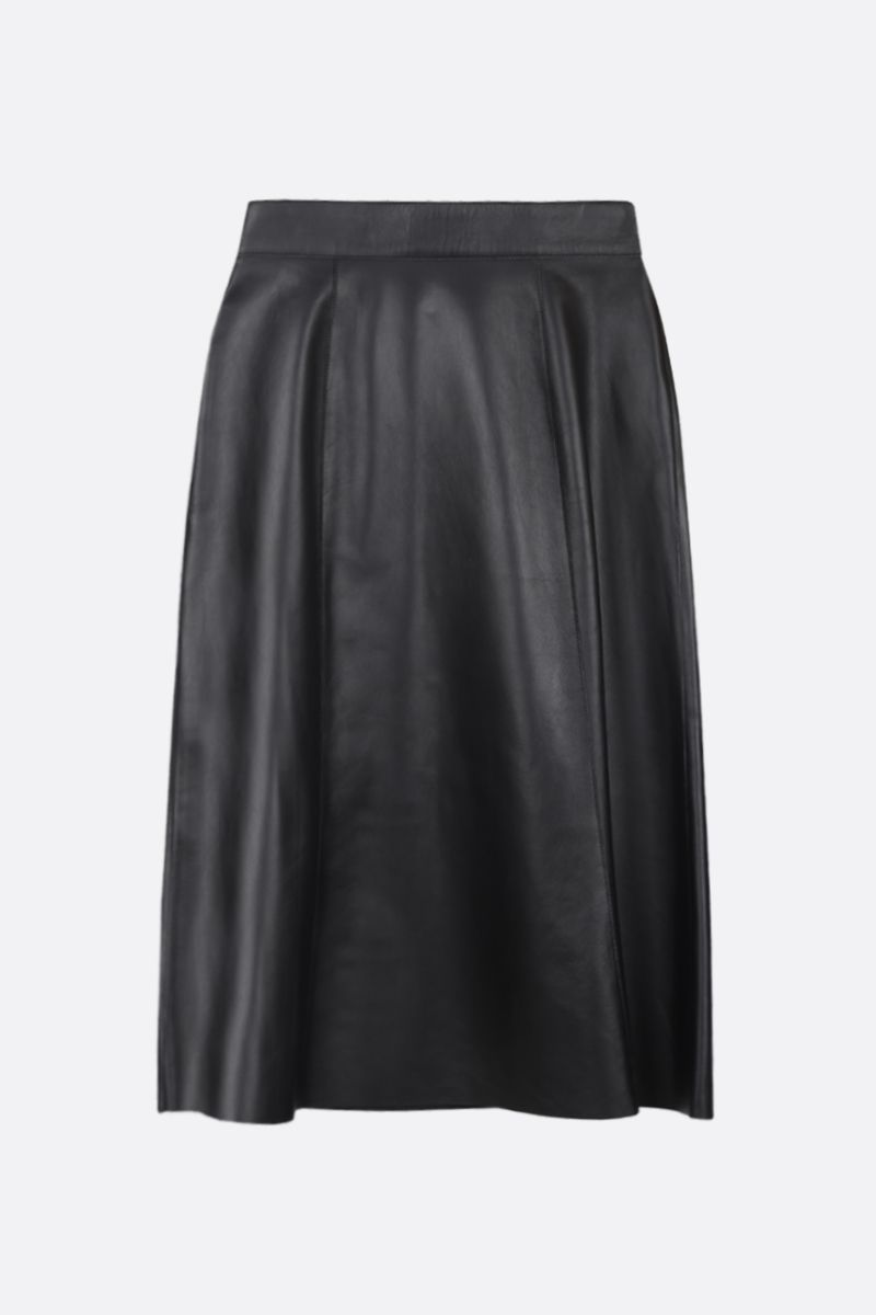 PRADA: soft nappa A-line skirt Color Black_2