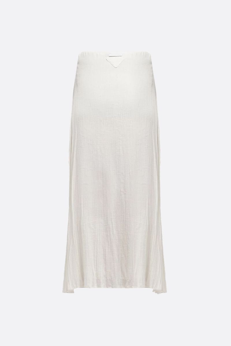 PRADA: silk gauze A-line skirt Color White_2