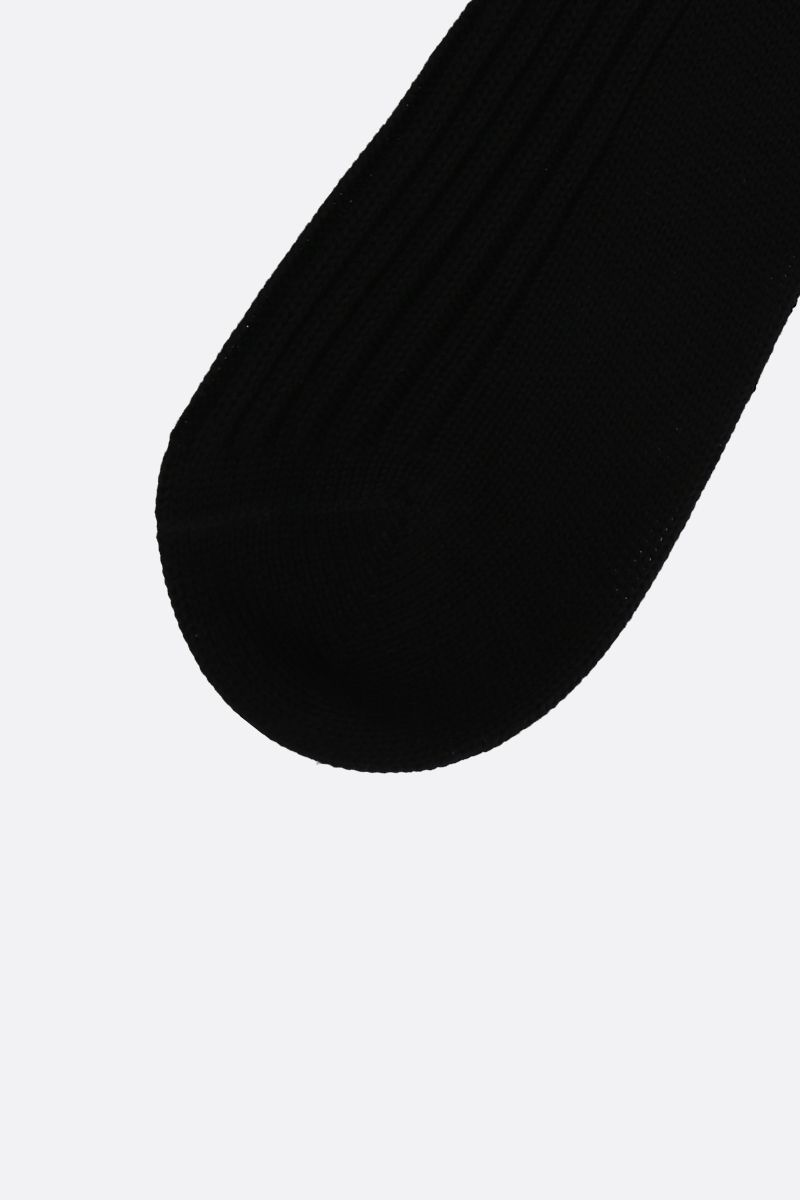 PRADA: contrast trim-detailed terry socks Color Black_2