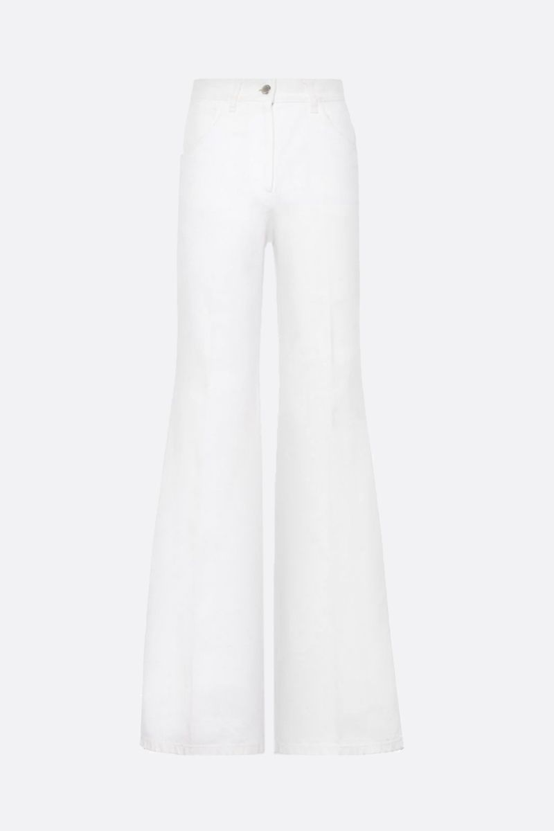 PRADA: high-waist flare jeans Color White_1