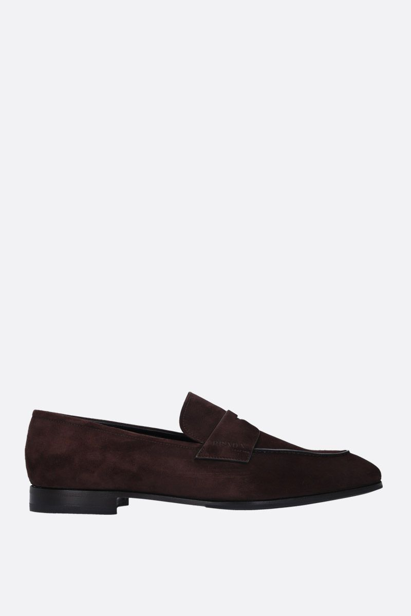 PRADA: soft suede loafers Color Brown_1