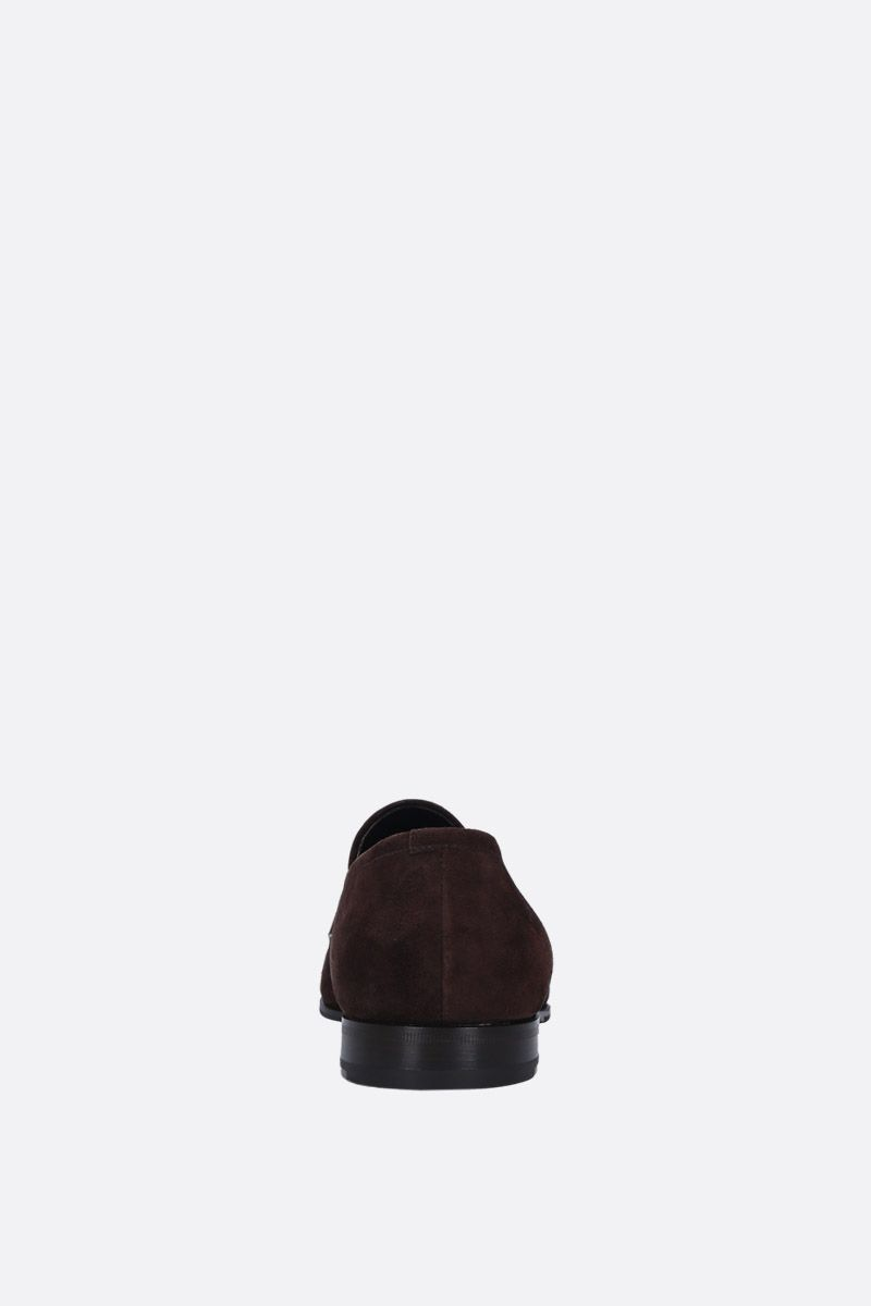 PRADA: soft suede loafers Color Brown_4