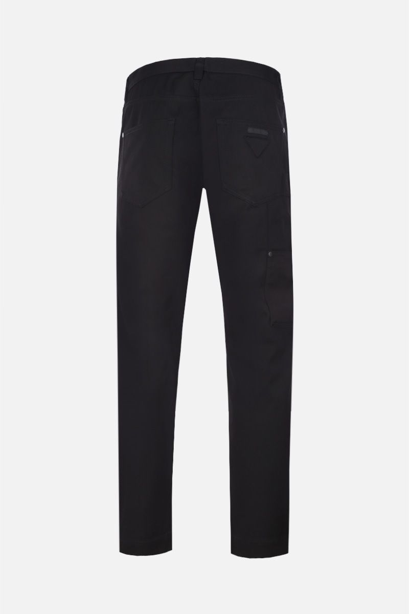 PRADA: gabardine cargo pants Color Black_2