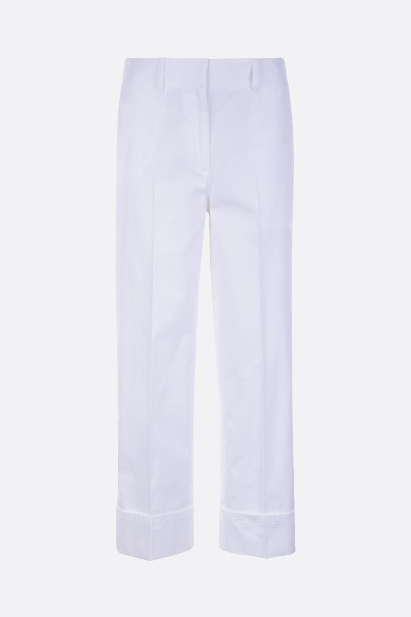 PRADA: straight-fit cotton pants Color White_1