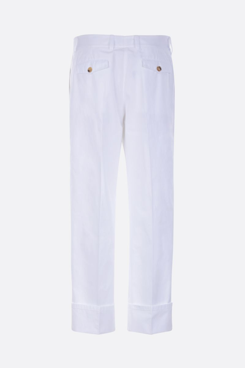 PRADA: straight-fit cotton pants Color White_2