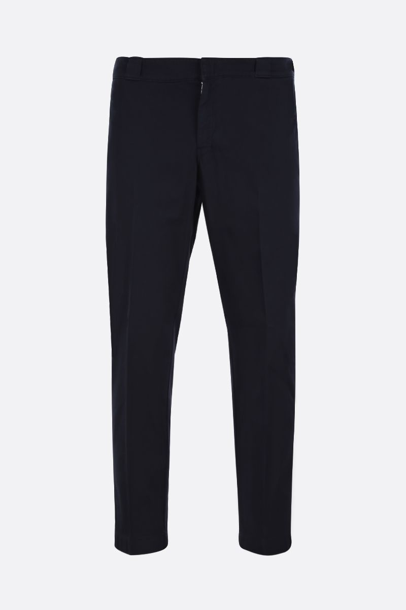 PRADA: cotton gabardine slim-fit pants Color Blue_1