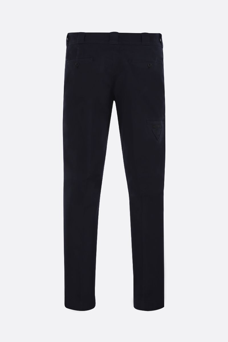 PRADA: cotton gabardine slim-fit pants Color Blue_2
