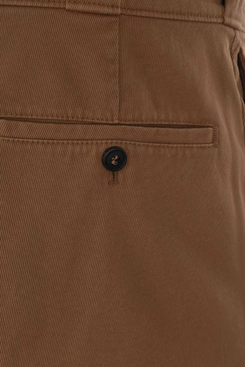 PRADA: cotton gabardine slim-fit pants Color Brown_4
