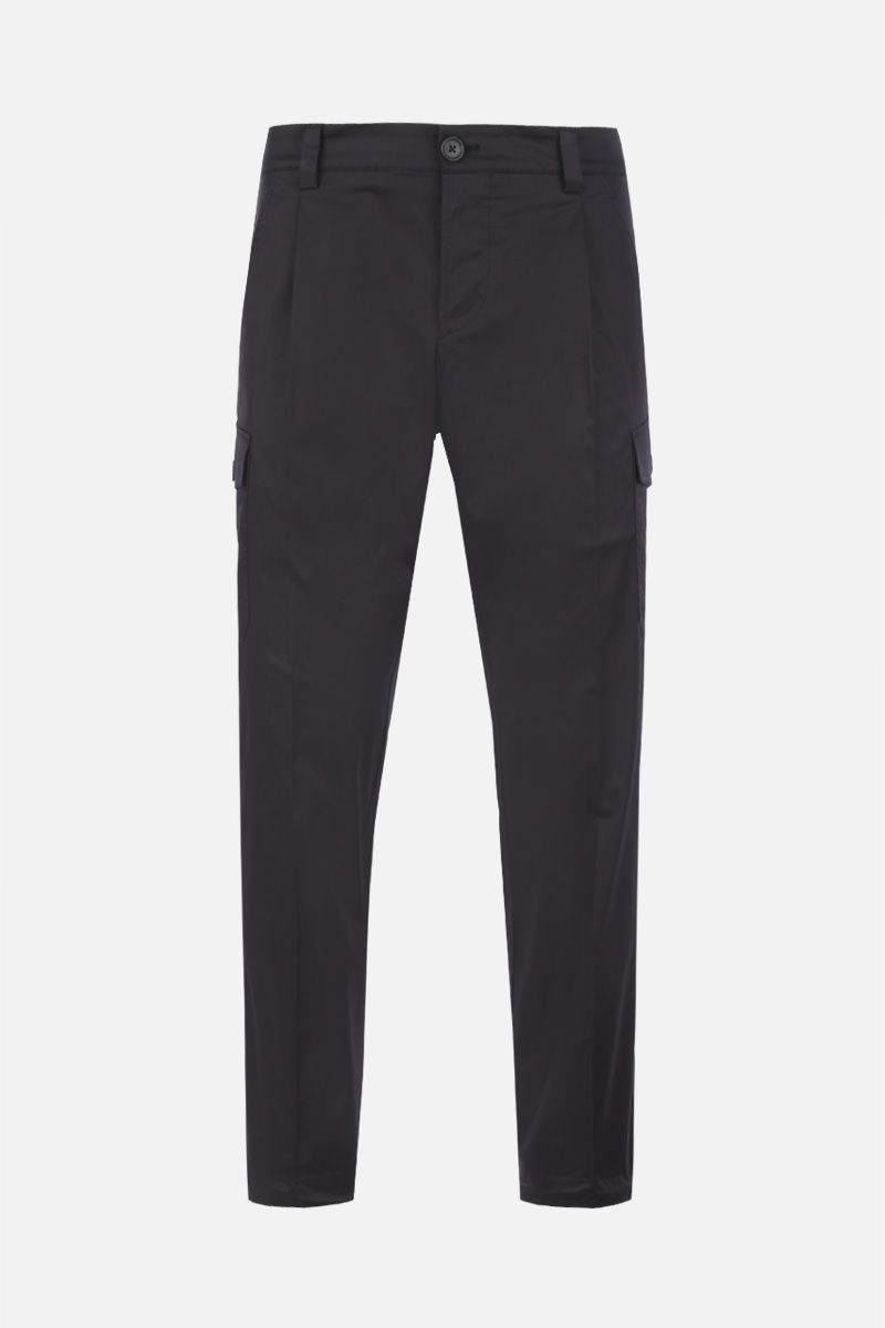 PRADA: stretch cotton cargo pants Color Black_1