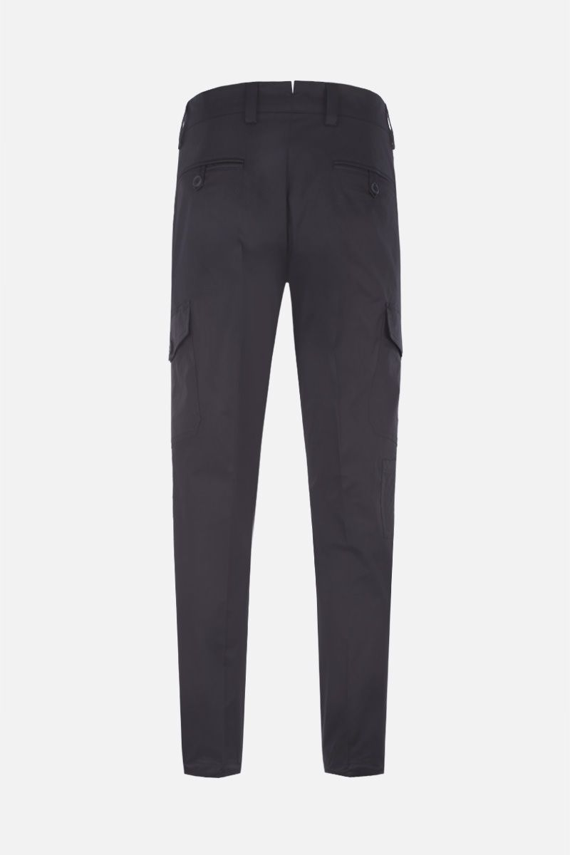 PRADA: stretch cotton cargo pants Color Black_3