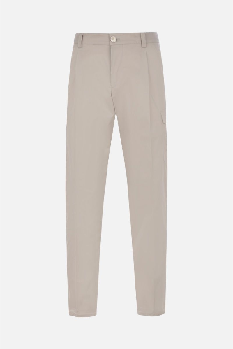 PRADA: stretch cotton cargo pants Color Purple_1