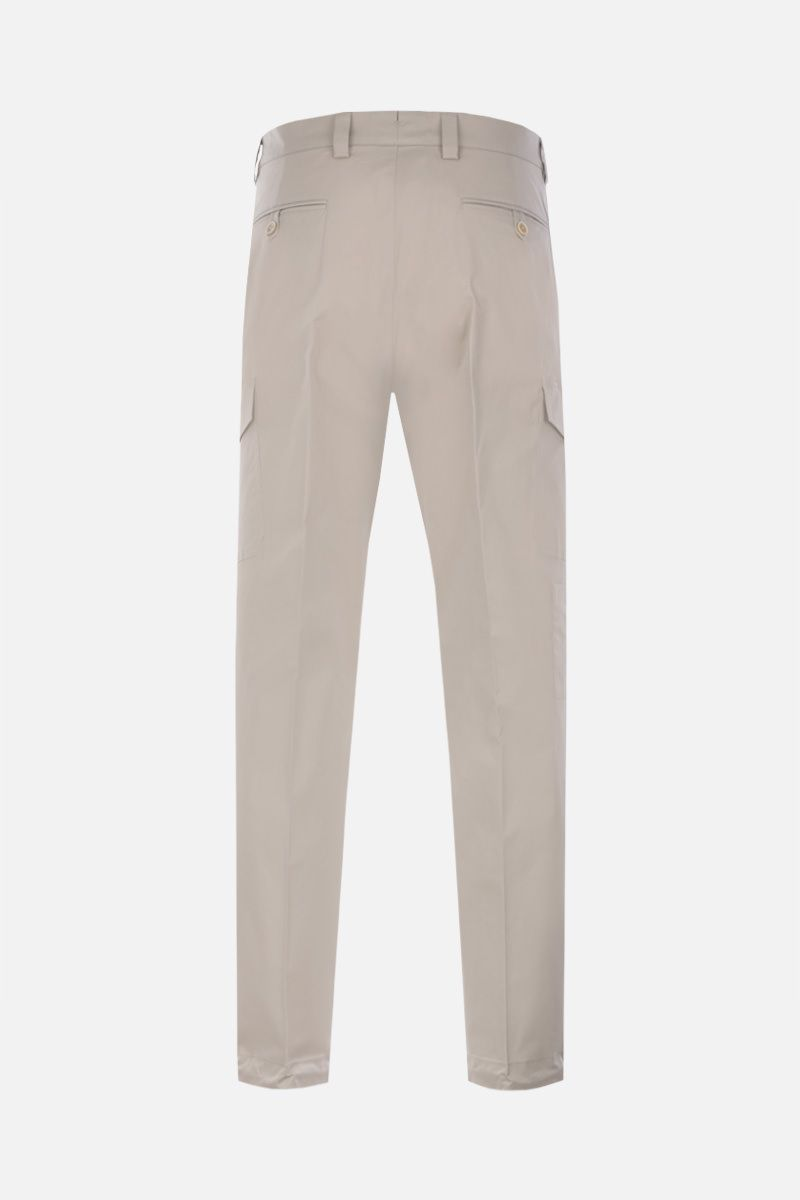 PRADA: stretch cotton cargo pants Color Purple_2