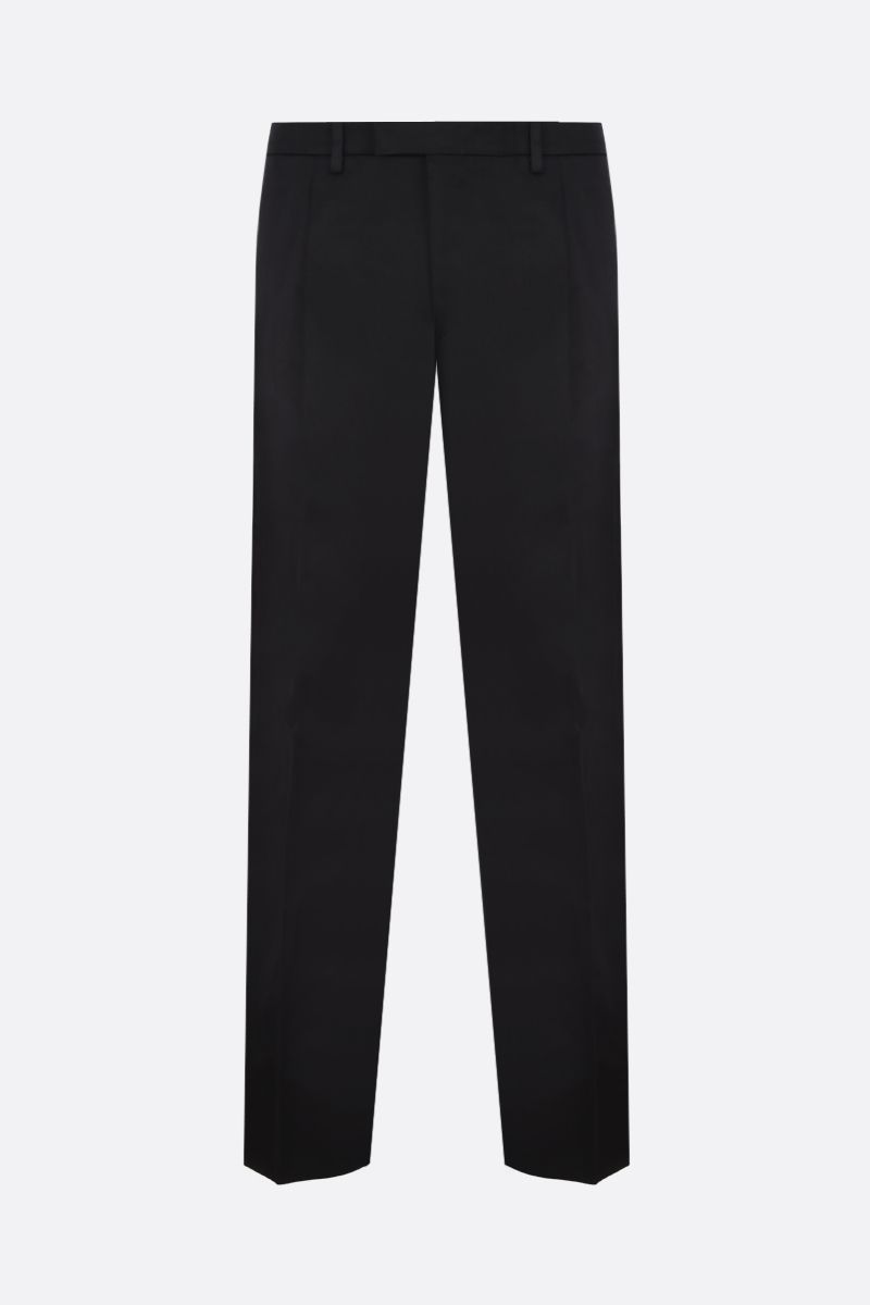 PRADA: straight-fit cotton pants Color Black_1