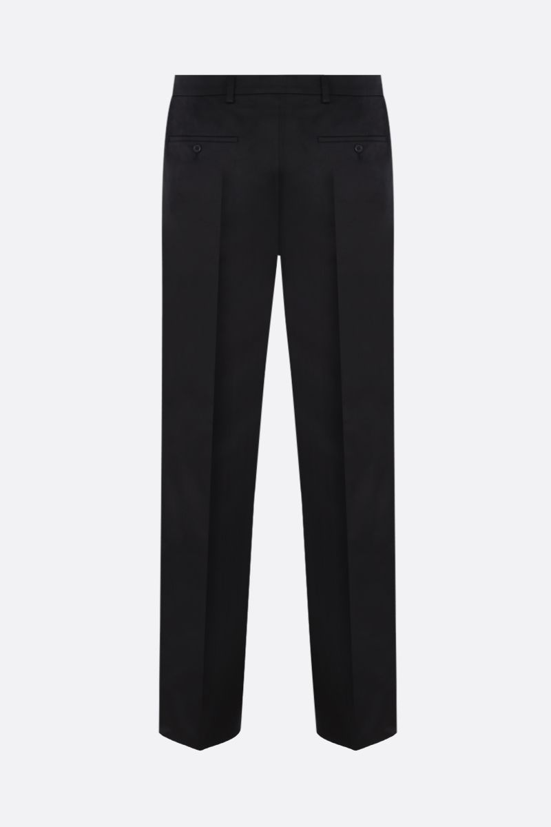 PRADA: straight-fit cotton pants Color Black_2