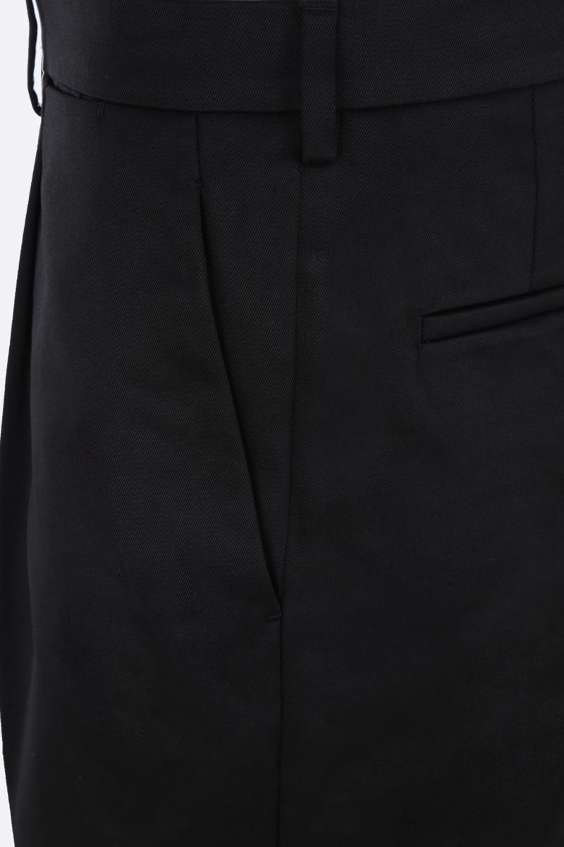 PRADA: straight-fit cotton pants Color Black_4