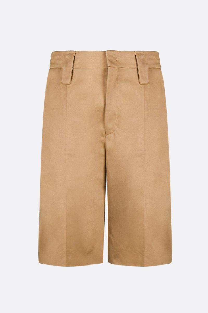 PRADA: cotton straight-fit shorts Color Brown_1