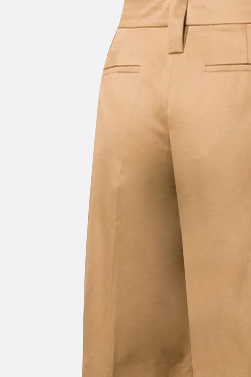 PRADA: cotton straight-fit shorts Color Brown_2