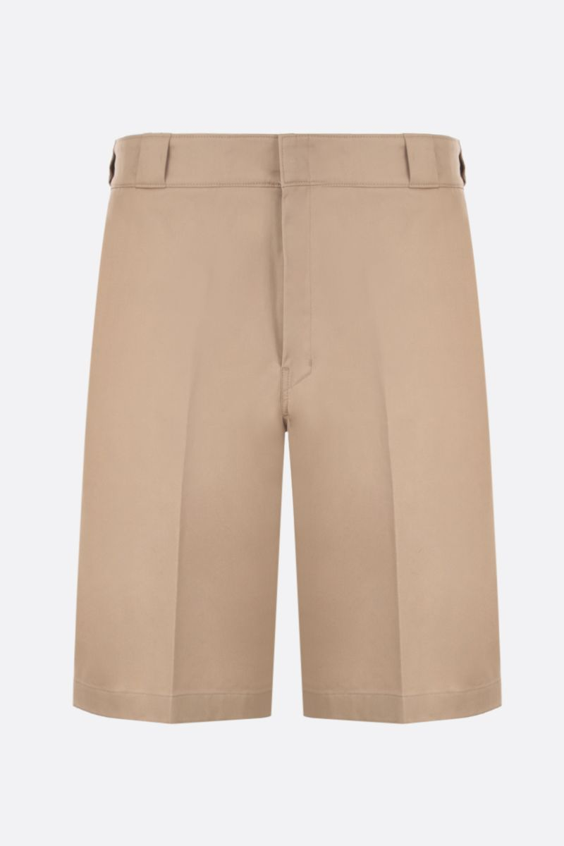 PRADA: stretch gabardine short pants Color Neutral_1