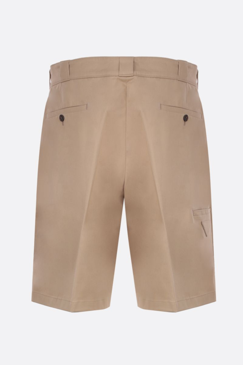 PRADA: stretch gabardine short pants Color Neutral_2