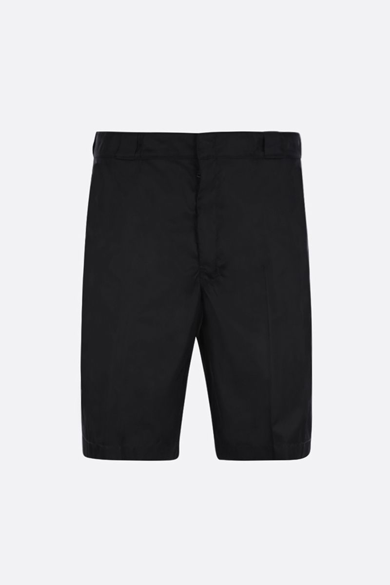 PRADA: nylon gabardine shorts Color Black_1