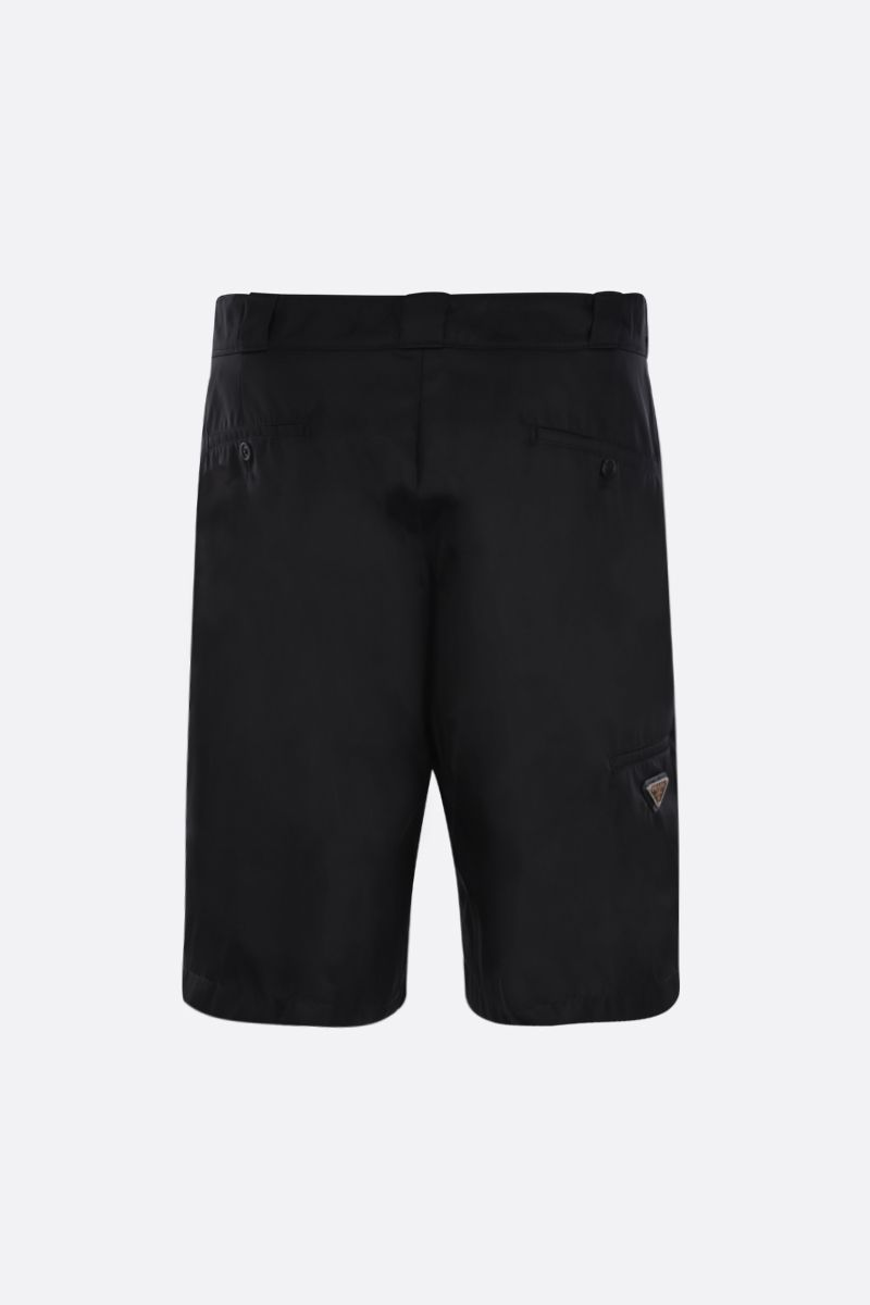 PRADA: nylon gabardine shorts Color Black_2