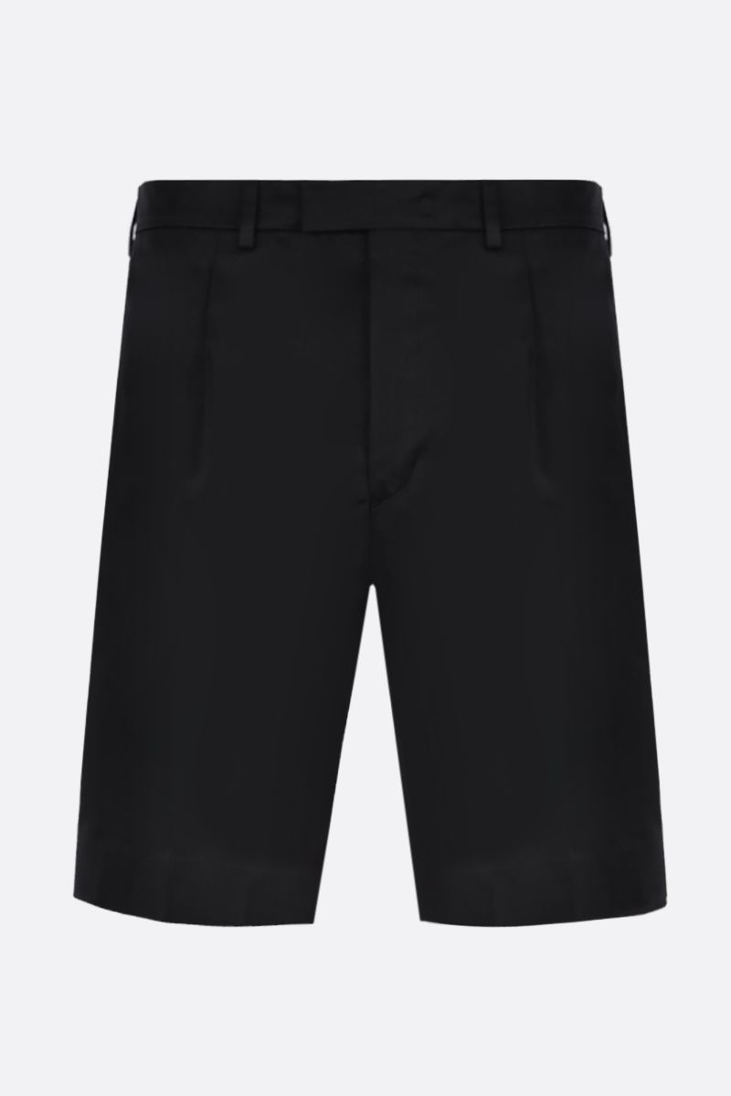 PRADA: cotton regular-fit shorts Color Black_1
