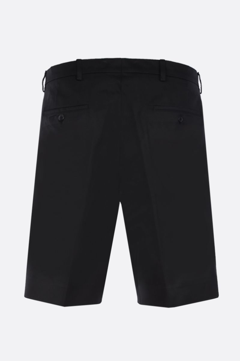 PRADA: cotton regular-fit shorts Color Black_2