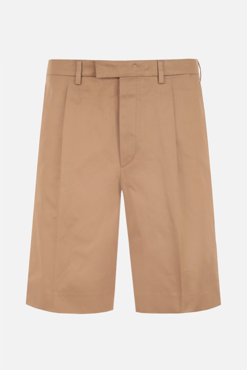 PRADA: pantalone corto regular-fit in cotone Colore Marrone_1