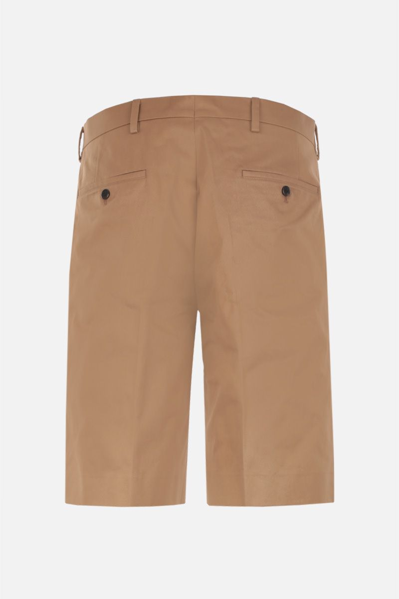 PRADA: pantalone corto regular-fit in cotone Colore Marrone_2