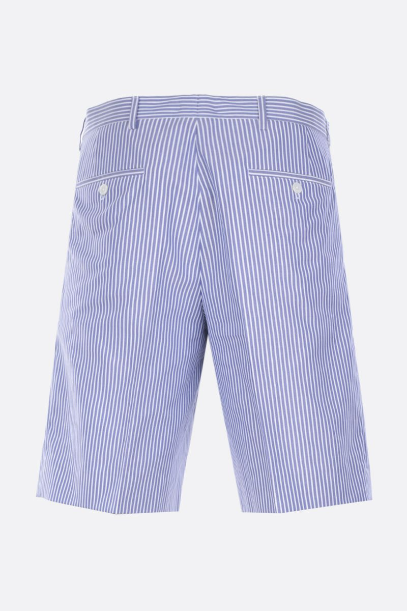 PRADA: striped cotton regular-fit shorts Color Blue_2
