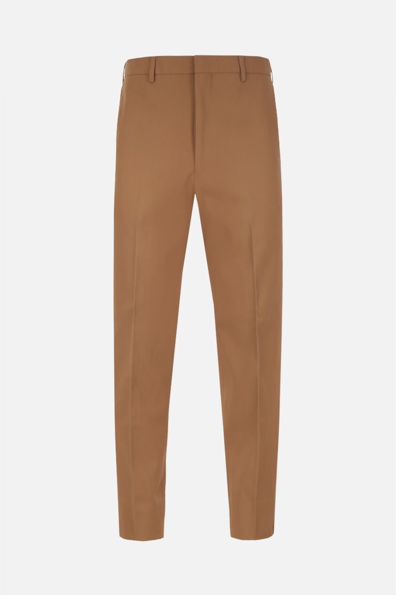 PRADA: lightweight cotton cropped pants Color Brown_1