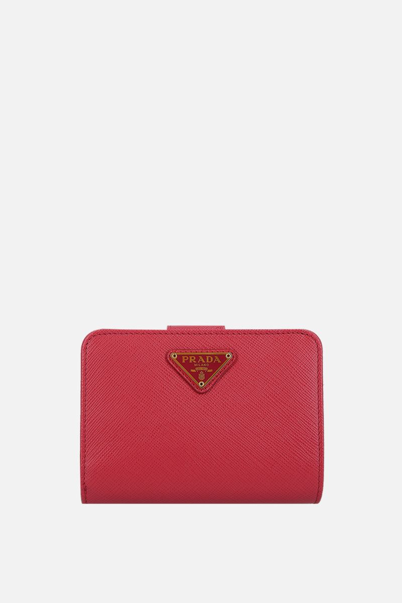 PRADA: Saffiano leather small wallet Color Pink_1