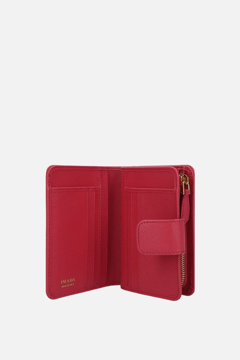 PRADA: Saffiano leather small wallet Color Pink_2