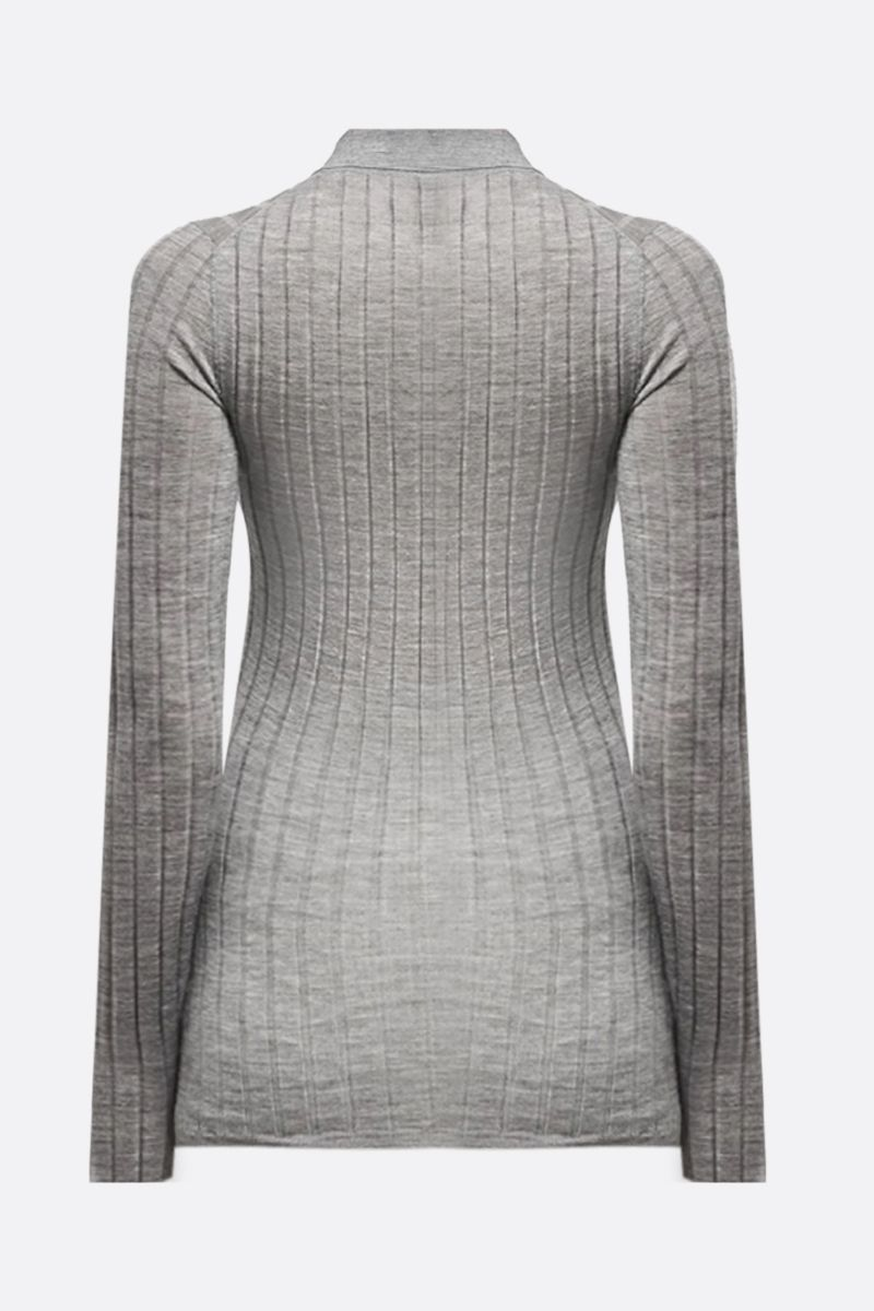 PRADA: ribbed-knit cashmere silk blend pullover Color Grey_2