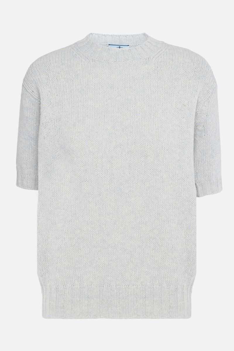 PRADA: wool short-sleeved pullover Color Neutral_1